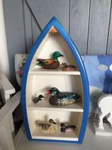 Hand gemaakte houten letterbak (bootje)