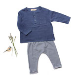 Shirt Lenz (blue) und Hose Ben (blue stripe) 3-6M