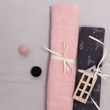 Bio-Musselin Baby-Halstuch 2er Set rosa & grau