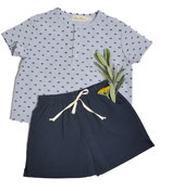 Shirt Thilo (navy dots) und Shorts Maxi (navy) 3-6M