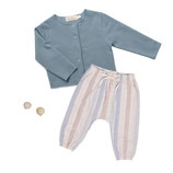 Jerseyjacke Wilma (sea green) & Pants Mio (azul stripe) 5-6J