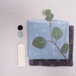 Bio-Musselin Baby-Halstuch 2er Set blau & grau
