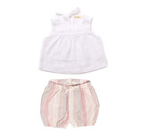 Top Sina (weiss) & Bloomer Eva (rosé stripe) 3-6M