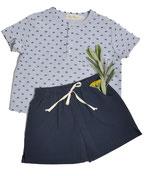 Shirt Thilo (navy dots) und Shorts Maxi (navy) 6-12M