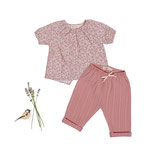 Bluse Julia (floret) und Hose Marla (dusty rose) 5-6J