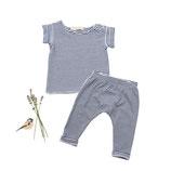 Jersey-Shirt Fritz  (geringelt) und Jersey-Pants Ben (geringelt) 6-12M