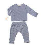 Jerseyjacke Wilma  (geringelt) und Jersey-Pants Ben (geringelt) 3-6M