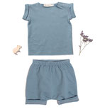 Jersey-Shirt Fritz (sea green) und Jersey-Short Benny (sea green) 3-6M