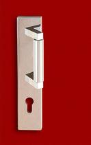 FAGUS HT Bauhaus Haustür Schutzgarnitur mit rechteckigen Langschildern und Griff