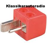 Universal Lautsprecherstecker für Autoradios, Schraubanschluss. Art.nr.: 10010