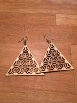 Ohrringe Blumige Dreiecke