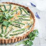 Quiche green asparagus and leeks