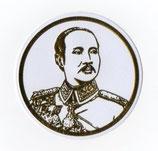 タイ 王室 ステッカー チュラーロンコーン国王(ラーマ5世)肖像 ゴールド丸型Sサイズ  1枚 【タイ雑貨 Thailand Sticker】
