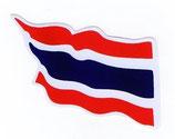 タイ王国 国旗 ステッカー(THAILAND National Flag Sticker ) M サイズ type G 1枚 【タイ雑貨 Thailand Sticker】