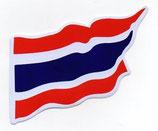タイ王国 国旗 ステッカー(THAILAND National Flag Sticker ) M サイズ type F 1枚 【タイ雑貨 Thailand Sticker】