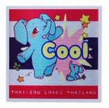 タイぞう ラブ タイランド ステッカー [Cool(超いいね)/メタル調] 6×6cm t2 (THAI-ZOU sticker)