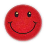 【SSサイズ】 スマイリー ステッカー レッド ラメタイプ (SMILEY sticker / Red) 3.6cm × 3.6cm SSサイズ typeA   【タイ雑貨 Thailand Sticker】