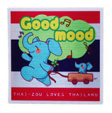 タイぞう ラブ タイランド ステッカー [Good mood(ルンルン)/メタル調] 6×6cm t3 (THAI-ZOU sticker)