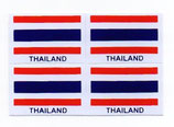 タイ王国 国旗 ステッカー(THAILAND National Flag Sticker ) S サイズ type E 1枚 【タイ雑貨 Thailand Sticker】