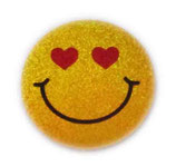 【SSサイズ】 スマイリー ステッカー ゴールド ラメタイプ (SMILEY sticker / Gold) 3.6cm × 3.6cm SSサイズ typeD   【タイ雑貨 Thailand Sticker】