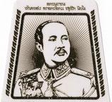 タイ  王室 ステッカー  チュラーロンコーン国王(ラーマ5世) 台形 1枚 【タイ雑貨 Thailand Sticker】