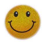 【SSサイズ】 スマイリー ステッカー ゴールド ラメタイプ (SMILEY sticker / Gold) 3.6cm × 3.6cm SSサイズ typeA   【タイ雑貨 Thailand Sticker】