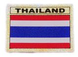 タイ王国 国旗 ステッカー(THAILAND National Flag Sticker ) S サイズ ラメタイプ type J 【タイ雑貨 Thailand Sticker】