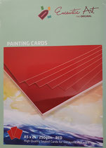 Encaustic karton  gekleurd  A5 Rood