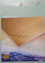Encaustic karton gekleurd A4  Goud