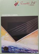 Encaustic karton gekleurd A5 Zwart