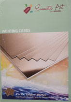 Encaustic karton gekleurd A5 Brons