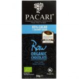 PACARI Raw 85, Schokolade (85%), Bio, Tafel 50g