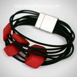CUBE armband - 5 mini cubes Red