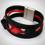 CUBE armband - 3 cubes Red/Black