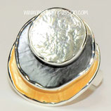 HANDGESCHILDERDE Ring - LAT080