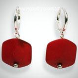 CUBE oorbellen - Red