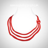 TRIPTIC rood - Silicone Ketting