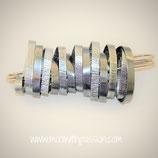 NOA XL - Aluminium Metaal Broch
