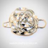 ZOE - Aluminium Zilver Broche
