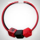 CUBE ketting - Red/Black