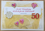 Geburtstagkarte 50. Geburtstag