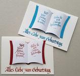 """Geburtstagskarte """"Buch des Lebens"""""""