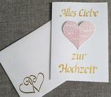 Hochzeitskarte mit aufklappbarem Herz