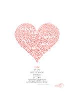 Wandbild mit geschriebenem Herz