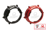 CNC RACING PANIGALE CLEAR CLUTCH COVER WITH CARBON PRAMAC LE