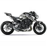 Z900 Z style Black/White Body Skin