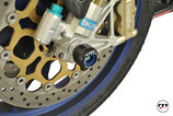PROTECTION FRONT AXLE SLIDERS APRILIA RSV1000 TUONO
