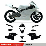 HONDA Moto3 2012- Template Body skin
