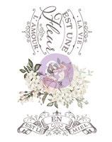 """redesign Motiv Transfer """"La Vie Est Une Fleur"""""""