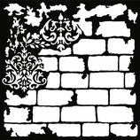 "redesign 3D Schablone ""Brick and Damask"""